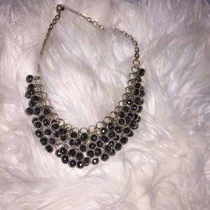 Jewelry - Gold and dark gray statement necklace